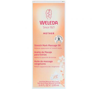 Weleda, Mother, масло для массажа против растяжек, 100 мл
