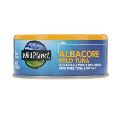 Wild Planet, Дикий длиннопёрый тунец, 5 унций (142 г)