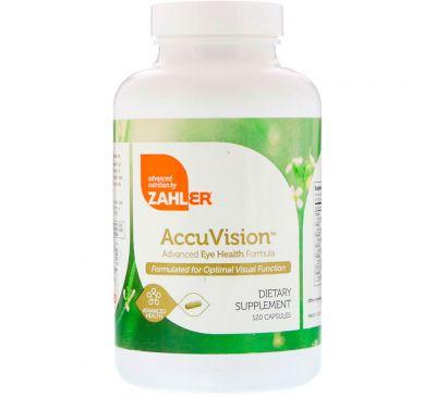 Zahler, AccuVision, улучшенная формула для здоровья глаз, 120 капсул