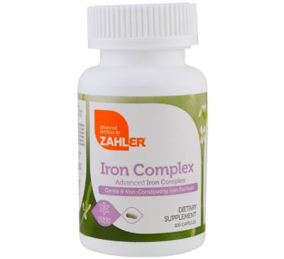 Zahler, Комплекс железа, Продвинутый комплекс железа, 100 капсул