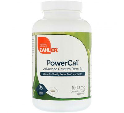 Zahler, PowerCal, передовая формула кальция, 1000 мг, 180 таблеток