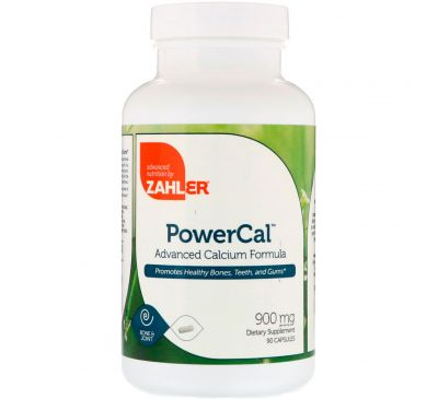 Zahler, PowerCal, продвинутая формула с кальцием, 900 мг, 90 капсул