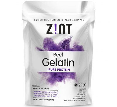 Zint, Beef Gelatin, Чистый Протеин, 16 унций (454г)