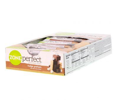 ZonePerfect, Питательные батончики, фадж грэм, 12 батончиков, 1,76 унции (50 г) каждый