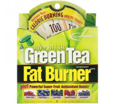 appliednutrition, Добавка для нормализации веса с зеленым чаем, 30 желатиновых капсул быстрого действия