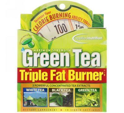 appliednutrition, Сжигатель жира с зеленым чаем, тройного действия, 30 жидких мягких таблеток