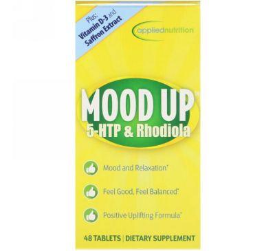 appliednutrition, Взбодрись, 5-гидрокситриптофан и родиола, 48 таблеток