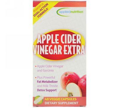 appliednutrition, Яблочный уксус экстра, 48 вегетарианских капсул