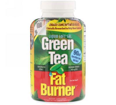 appliednutrition, Жиросжигающий зеленый чай, 90 быстродействующих жидких капсул