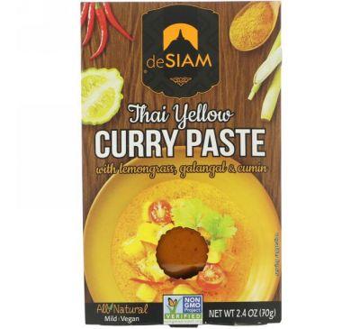 deSIAM, Тайский желтый карри, неострый, 2,4 унции (70 г)